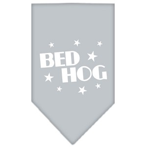 Bed Hog Screen Print Bandana Grey Large
