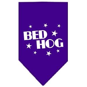 Bed Hog Screen Print Bandana Purple Small