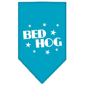 Bed Hog Screen Print Bandana Turquoise Small