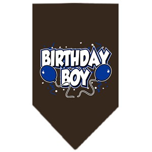 Birthday Boy Screen Print Bandana Cocoa Small