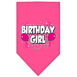 Birthday girl Screen Print Bandana Bright Pink Large