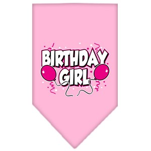 Birthday girl Screen Print Bandana Light Pink Large