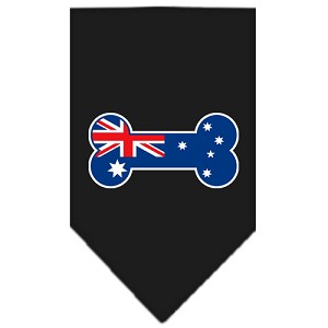 Bone Flag Australian Screen Print Bandana Black Small
