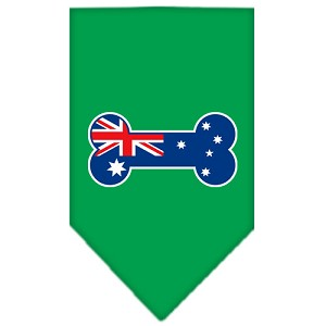 Bone Flag Australian Screen Print Bandana Emerald Green Large
