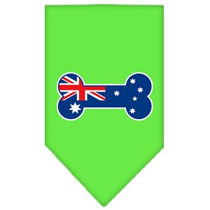 Bone Flag Australian Screen Print Bandana Lime Green Large