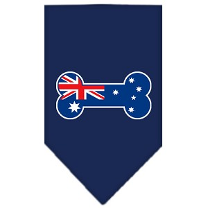 Bone Flag Australian Screen Print Bandana Navy Blue Small