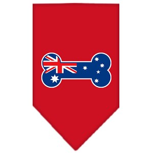 Bone Flag Australian Screen Print Bandana Red Small