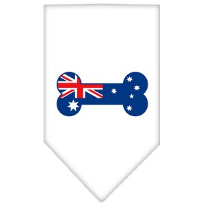 Bone Flag Australian Screen Print Bandana White Large