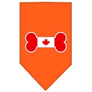 Bone Flag Canadian Screen Print Bandana Orange Small