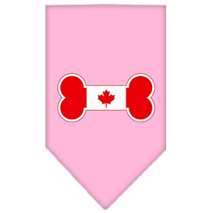 Bone Flag Canadian Screen Print Bandana Light Pink Small