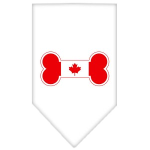 Bone Flag Canadian Screen Print Bandana White Large