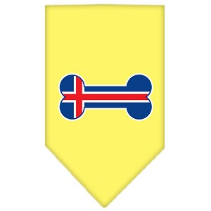 Bone Flag Iceland Screen Print Bandana Yellow Small