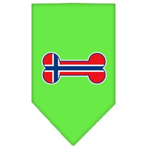 Bone Flag Norway Screen Print Bandana Lime Green Small