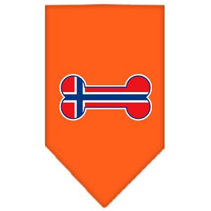 Bone Flag Norway Screen Print Bandana Orange Small