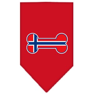 Bone Flag Norway Screen Print Bandana Red Large