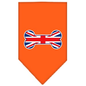 Bone Flag UK Screen Print Bandana Orange Large