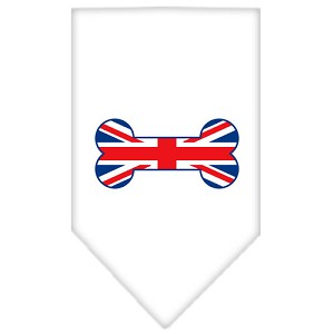 Bone Flag UK Screen Print Bandana White Small