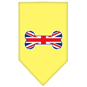 Bone Flag UK Screen Print Bandana Yellow Large