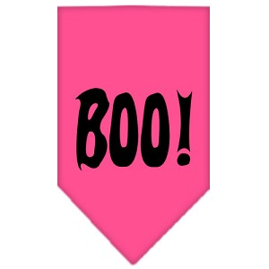 Boo! Screen Print Bandana Bright Pink Small
