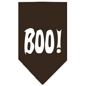 Boo! Screen Print Bandana Cocoa Small