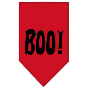 Boo! Screen Print Bandana Red Small