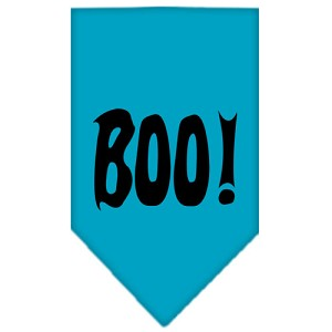 Boo! Screen Print Bandana Turquoise Small