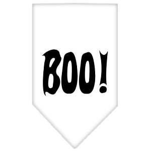 Boo! Screen Print Bandana White Large
