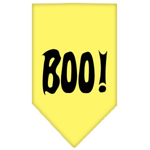 Boo! Screen Print Bandana Yellow Small