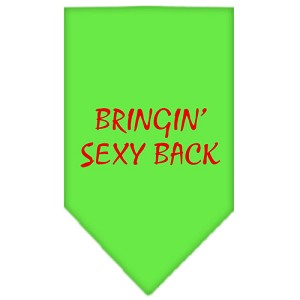Bringin Sexy Back Screen Print Bandana Lime Green Large