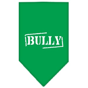 Bully Screen Print Bandana Emerald Green Small