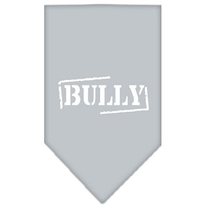 Bully Screen Print Bandana Grey Large