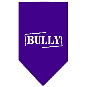 Bully Screen Print Bandana Purple Small