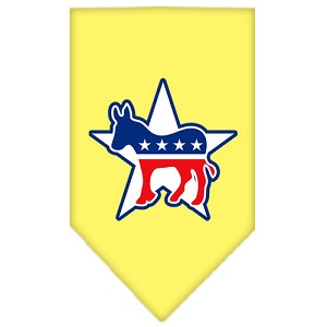Democrat Screen Print Bandana Yellow Small