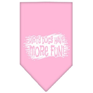Dirty Dog Screen Print Bandana Light Pink Small