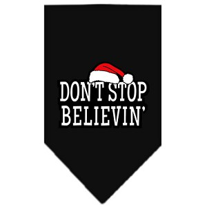 Dont Stop Believin Screen Print Bandana Black Large