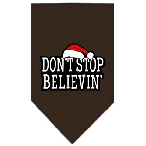 Dont Stop Believin Screen Print Bandana Cocoa Large