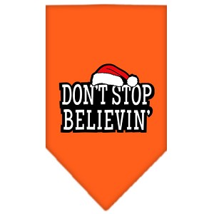 Dont Stop Believin Screen Print Bandana Orange Small