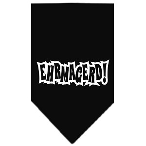 Ehrmagerd Screen Print Bandana Black Small