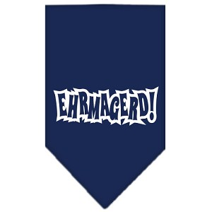 Ehrmagerd Screen Print Bandana Navy Blue large