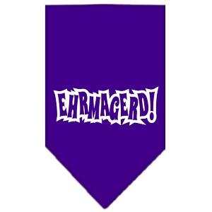 Ehrmagerd Screen Print Bandana Purple Small