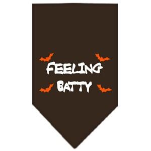 Feeling Batty Screen Print Bandana Cocoa Large