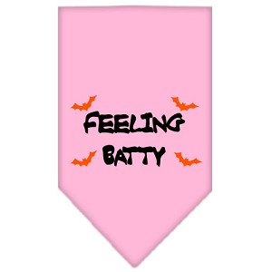 Feeling Batty Screen Print Bandana Light Pink Small