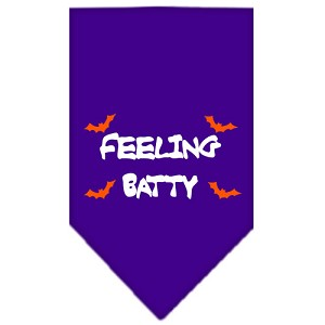 Feeling Batty Screen Print Bandana Purple Small