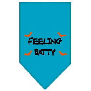 Feeling Batty Screen Print Bandana Turquoise Large