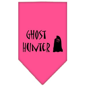 Ghost Hunter Screen Print Bandana Bright Pink Large