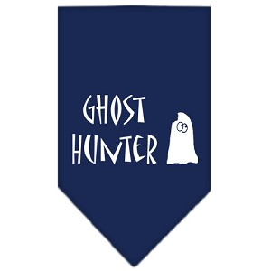 Ghost Hunter Screen Print Bandana Navy Blue Small