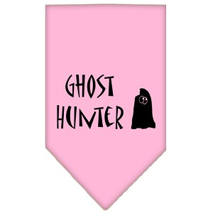 Ghost Hunter Screen Print Bandana Light Pink Large