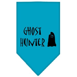 Ghost Hunter Screen Print Bandana Turquoise Small