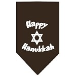 Happy Hanukkah Screen Print Bandana Cocoa Small
