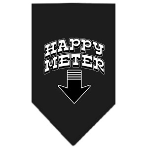 Happy Meter Screen Print Bandana Black Large